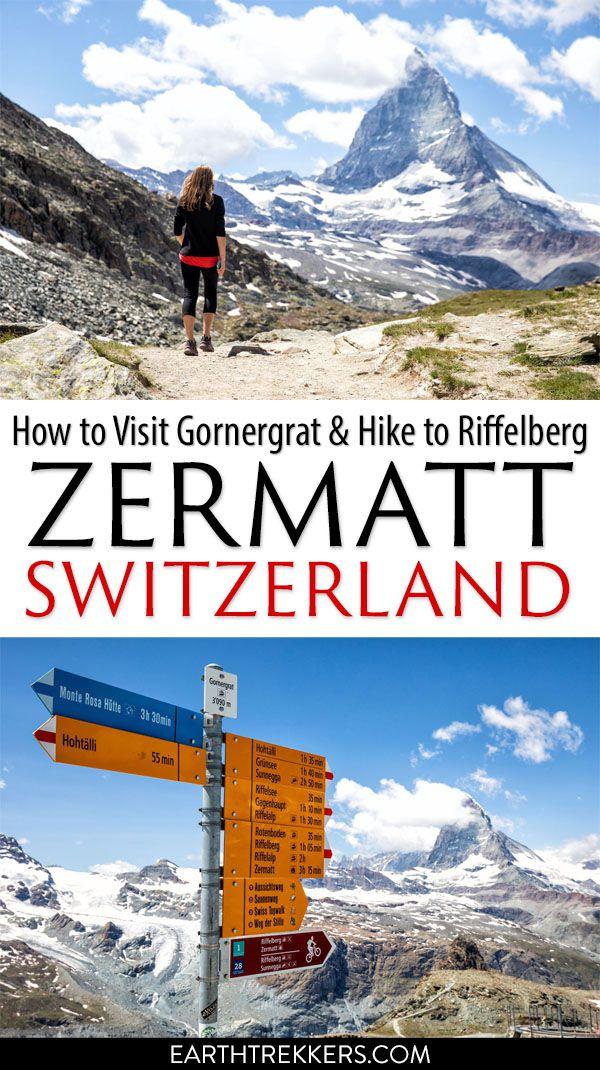 Zermatt Hike Gornergrat to Riffelberg Matterhorn