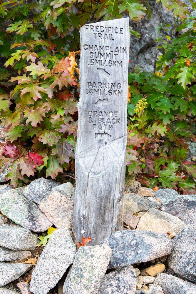 Acadia Hiking Sign
