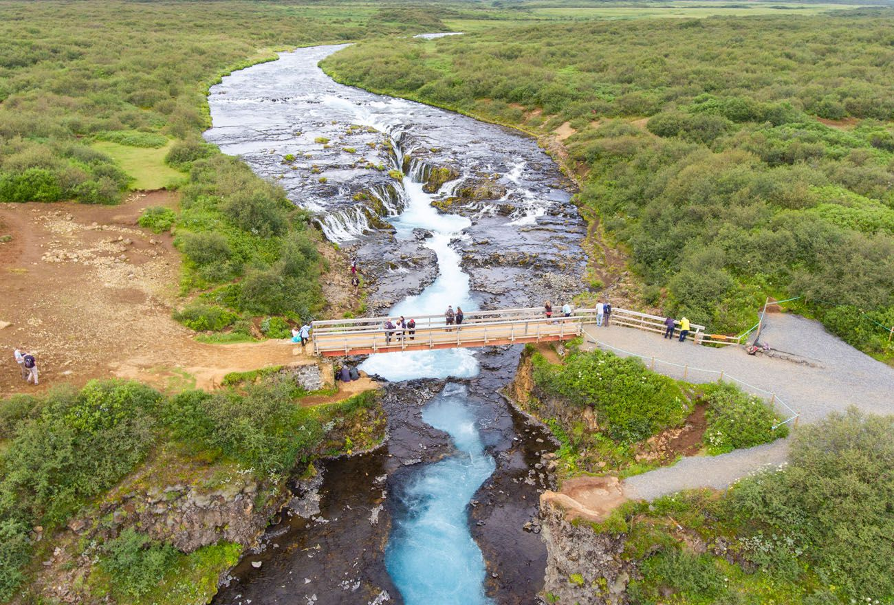 Bruarfoss Aerial Photo