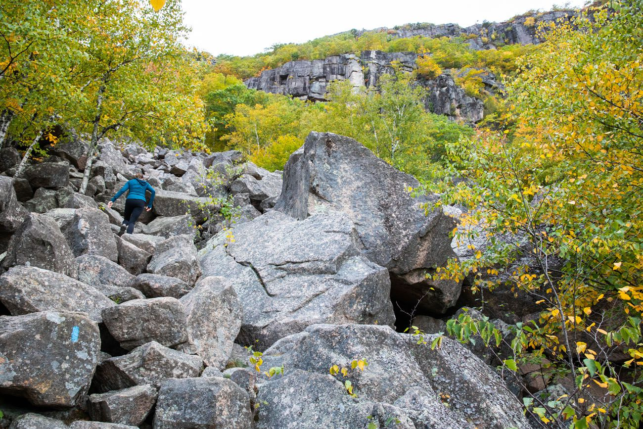 Climbing up the Boulders