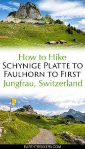 Hike Switzerland Schynige Platte Faulhorn First