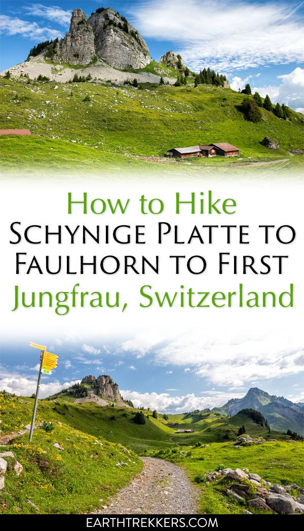 Hike Switzerland Schynige Platte Faulhorn First