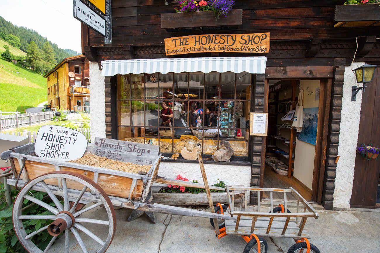 Honesty Shop Gimmelwald