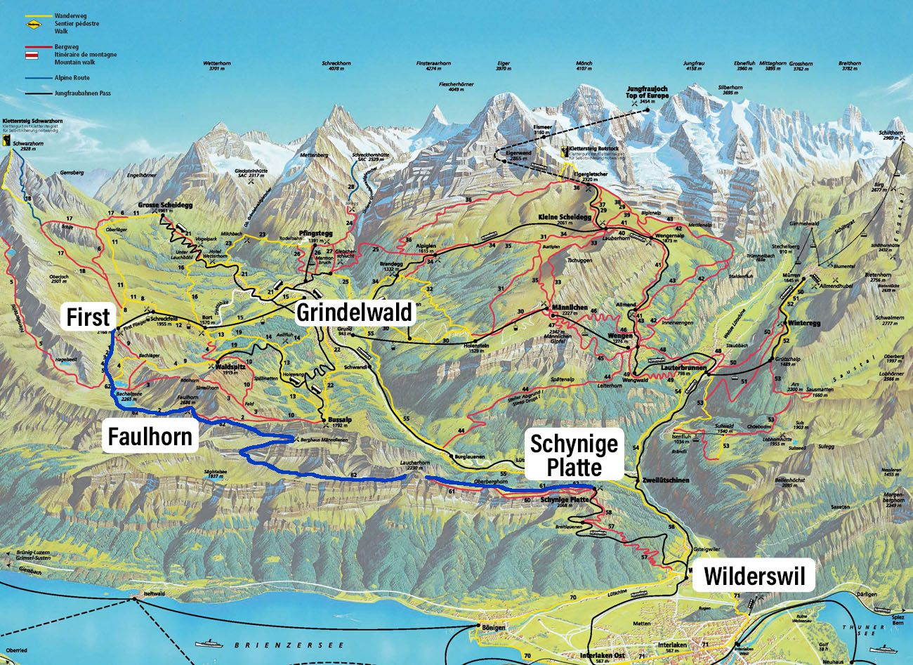 Map Schynige Platte