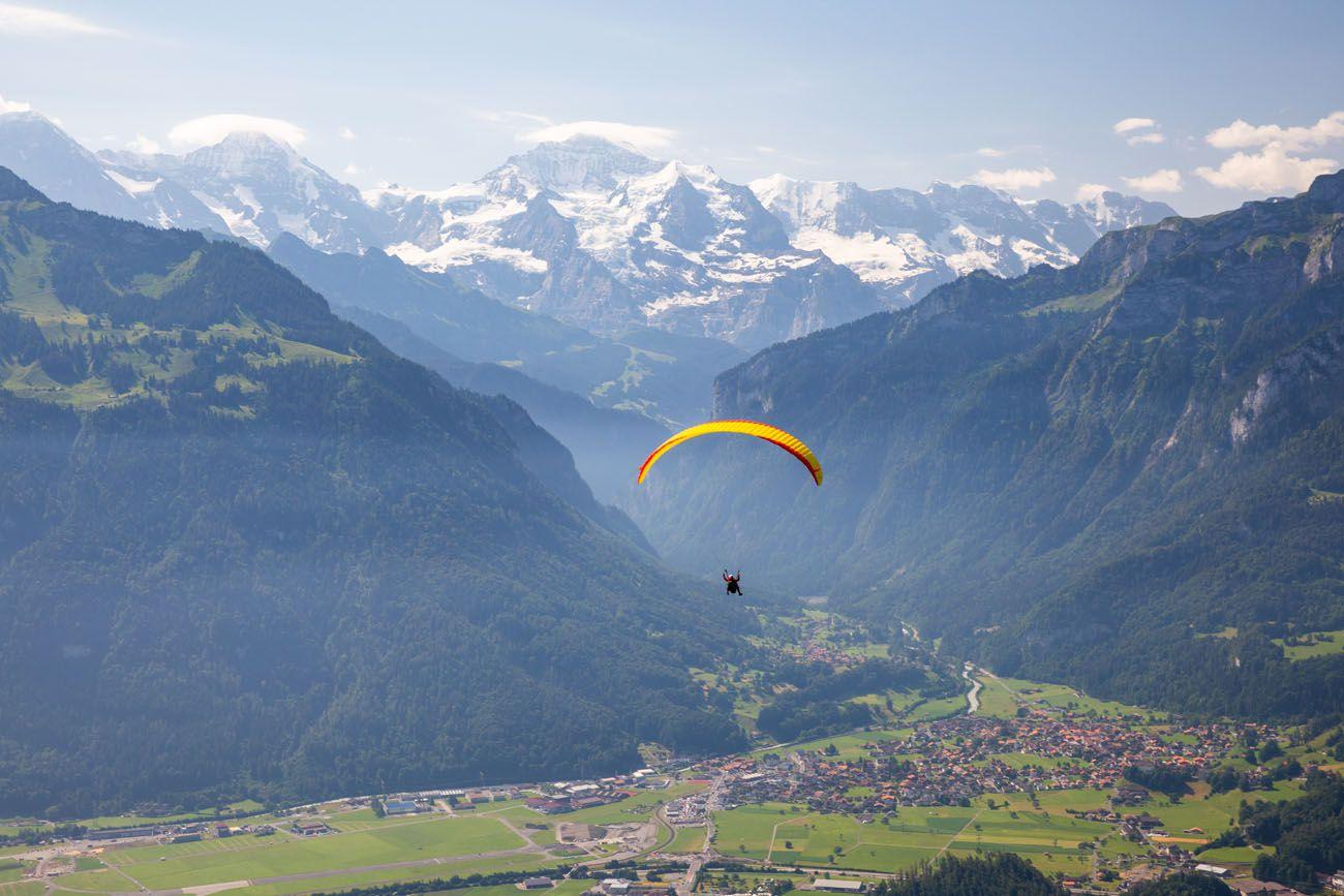 Paragliding Interlaken Jungfrau region