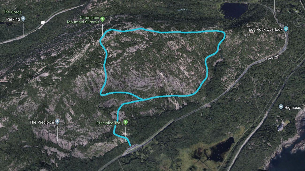 Precipice Trail Map