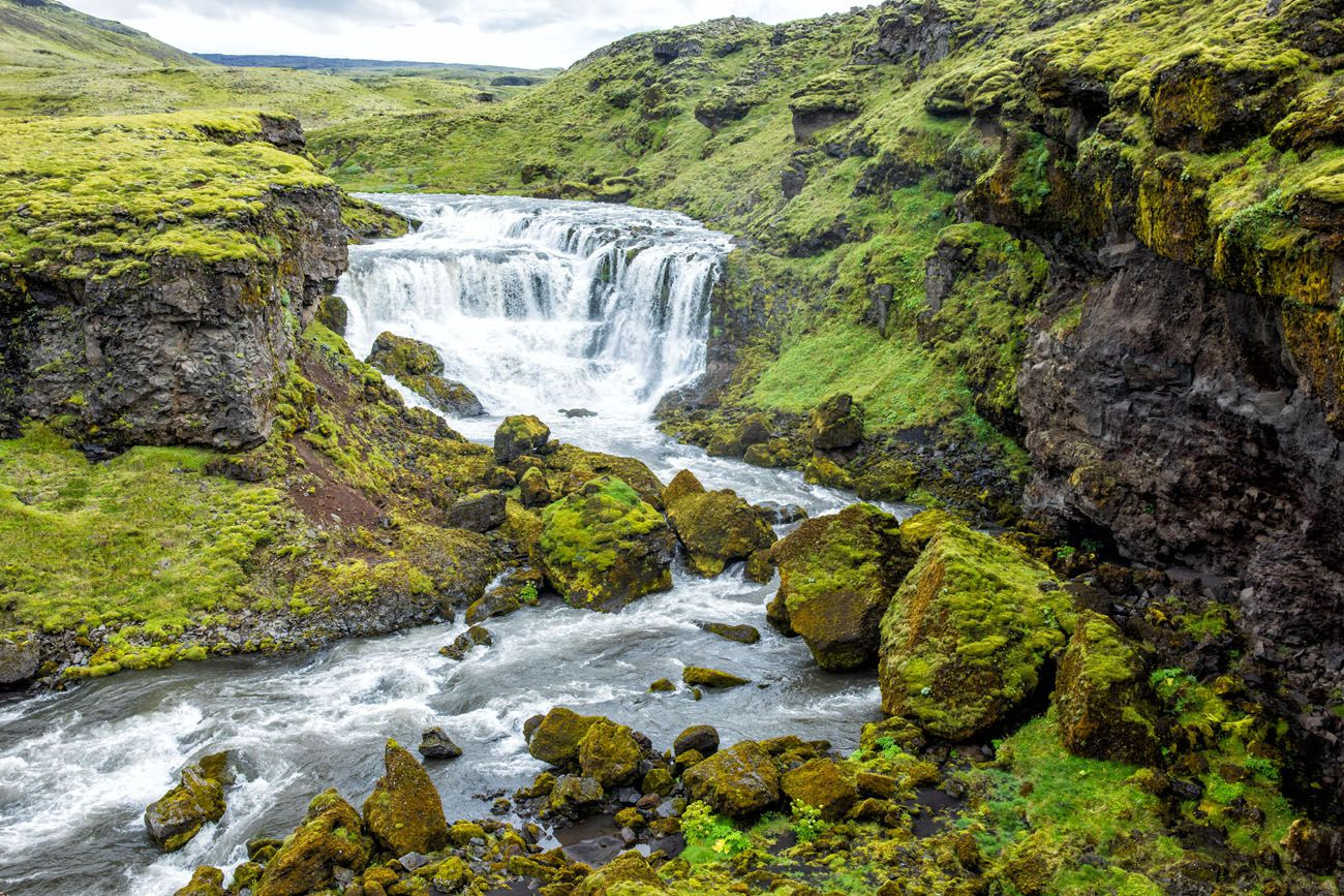 Cascading Falls Iceland