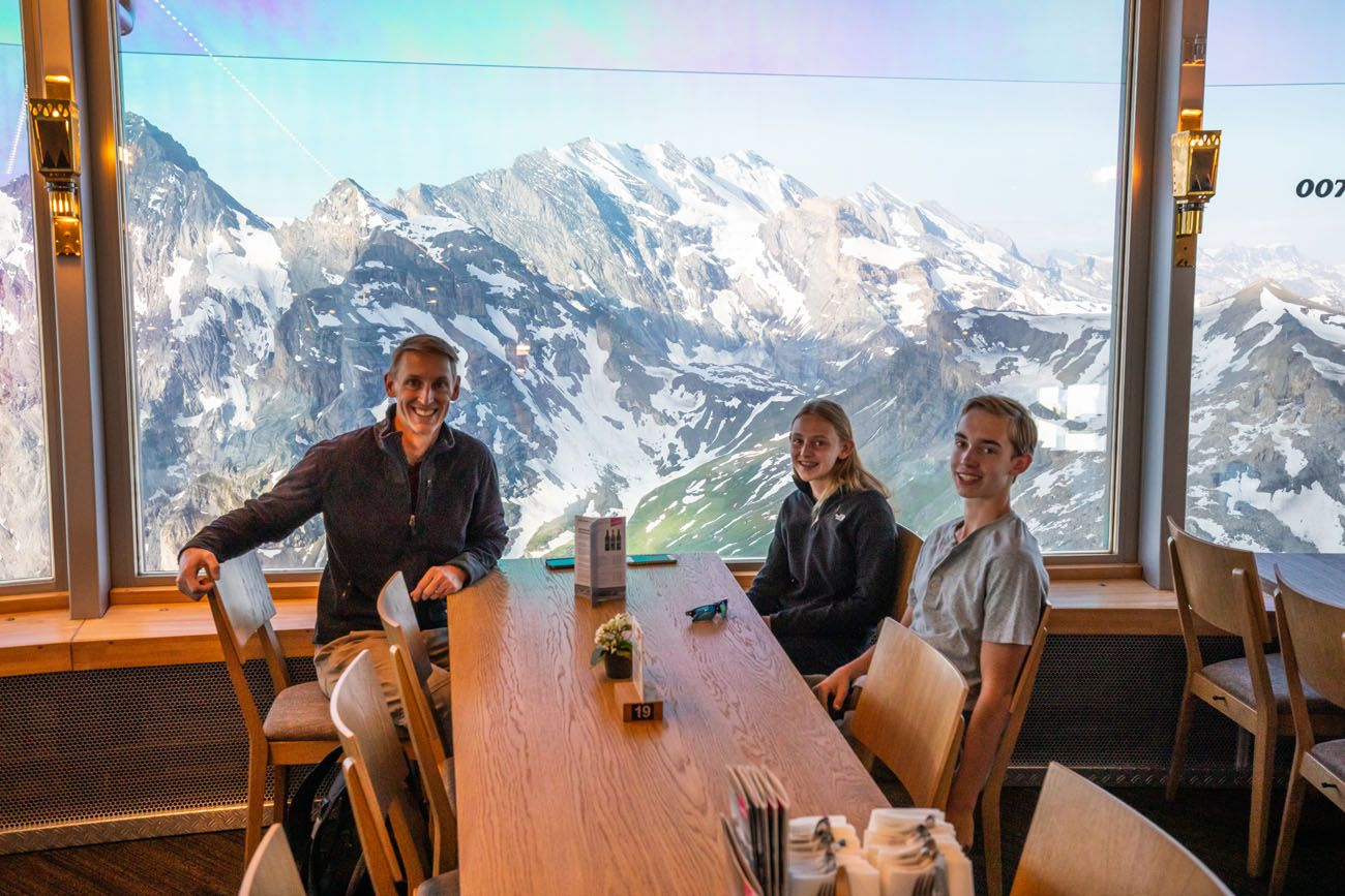 Dining at Piz Gloria