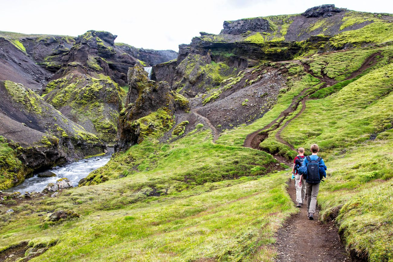 Hike Fimmvorduhals Iceland