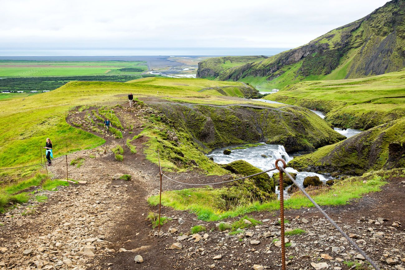 Hiking Waterfall Way Iceland