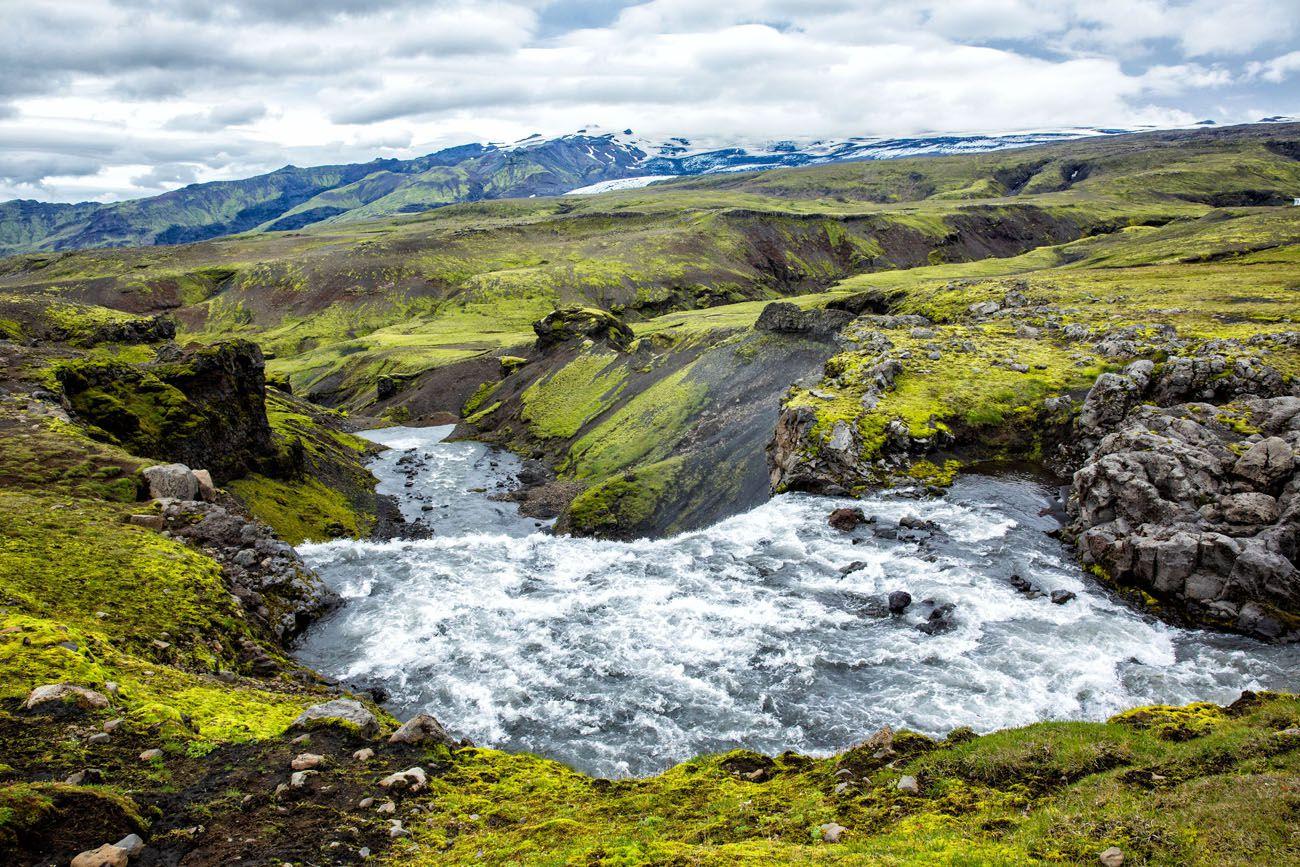 Iceland Hike Skogafoss Waterfall Hike