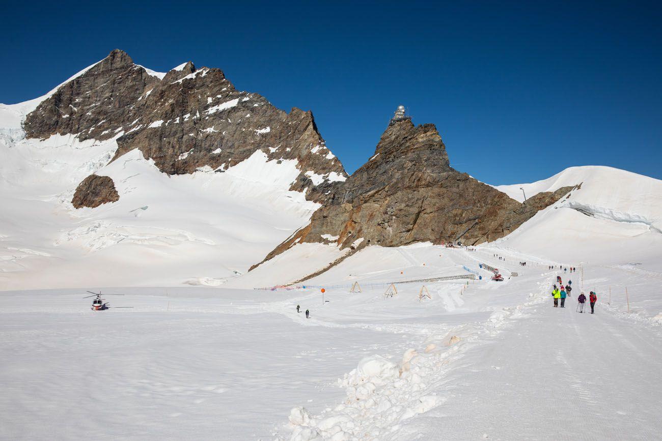 Jungfraujoch Snow