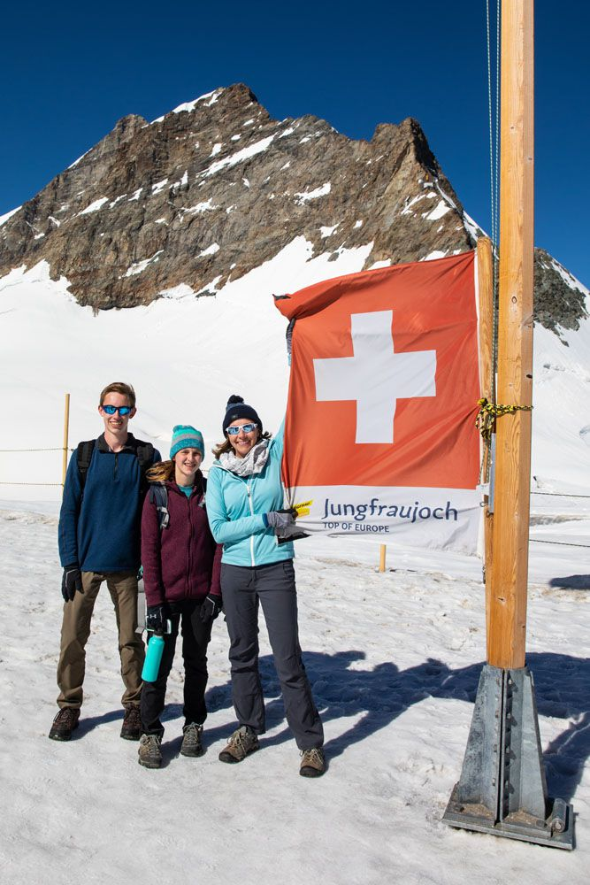 Jungfraujoch or Schilthorn Post