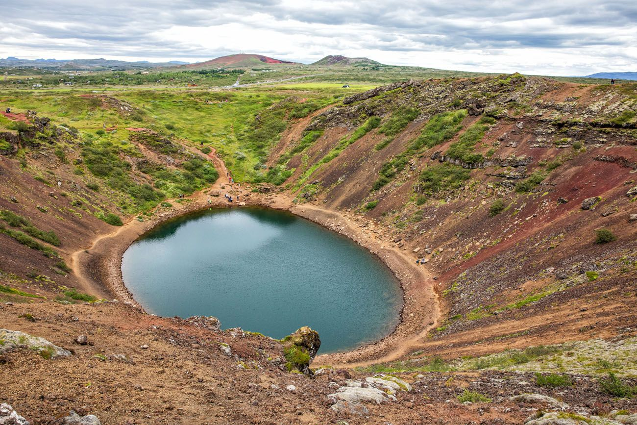 Kerid Crater 10 days in Iceland itinerary