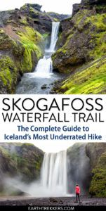 Skogafoss Waterfall Trail Hike Iceland
