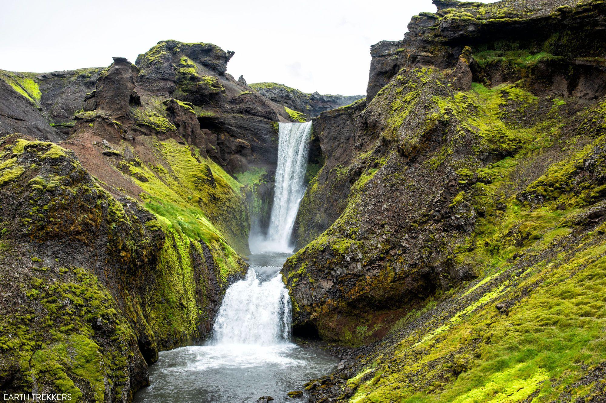Sunset Falls Iceland