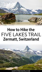 Five Lakes Trail Zermatt Switzerland
