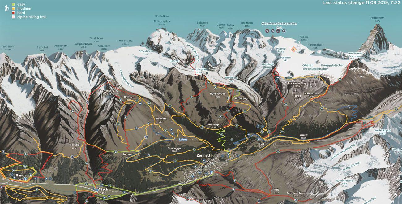 Map of Zermatt