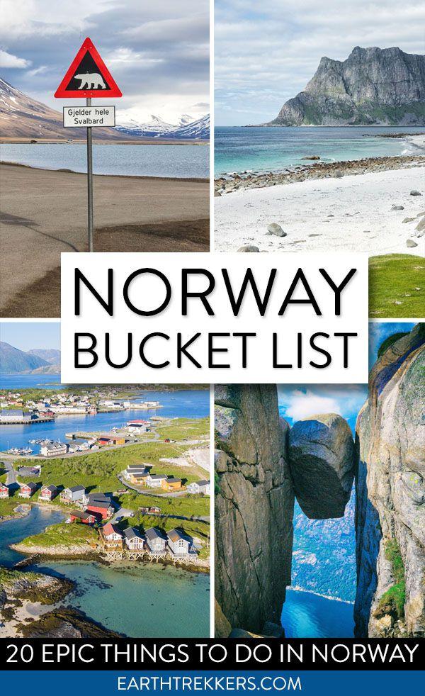 Norway Bucket List