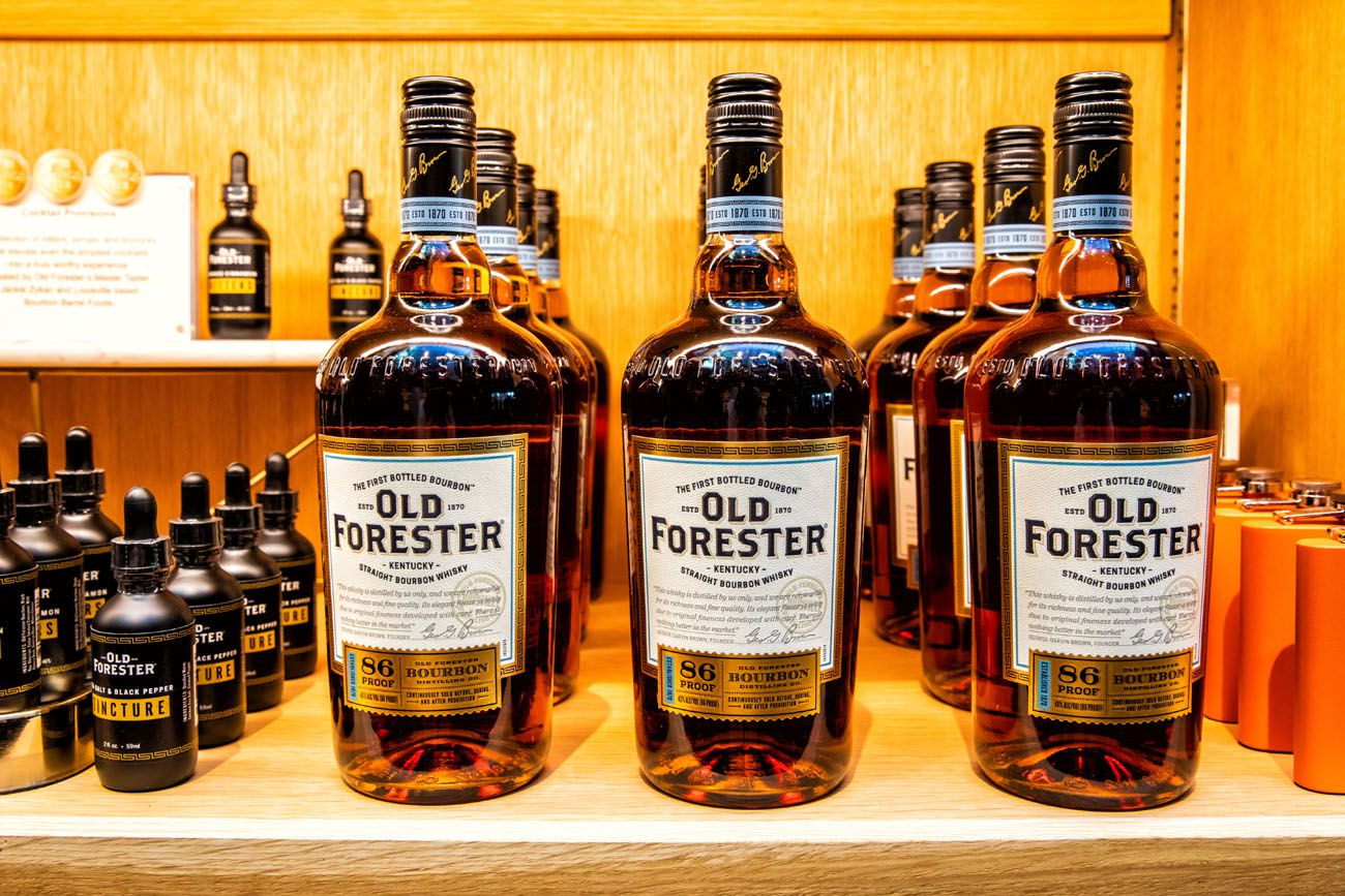 Old Forester Kentucky Bourbon Trail itinerary