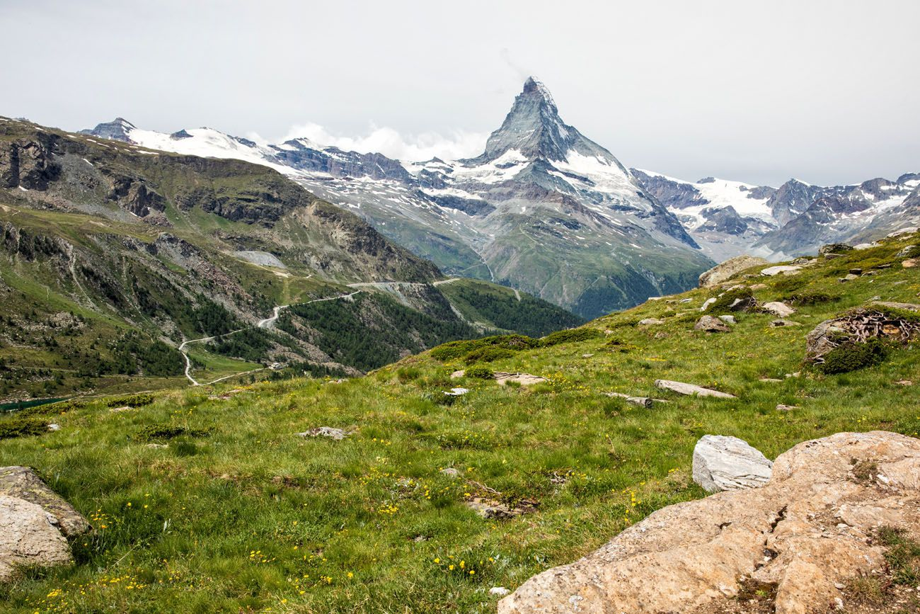 View from Five Lakes Trail Zermatt