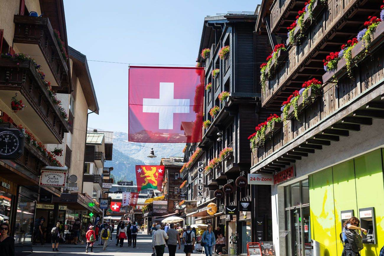 Walking through Zermatt