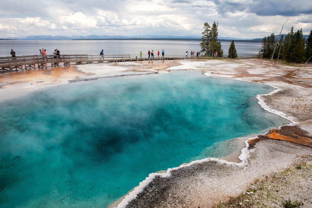West Thumb Geyser Basin Grand Teton Yellowstone and Glacier