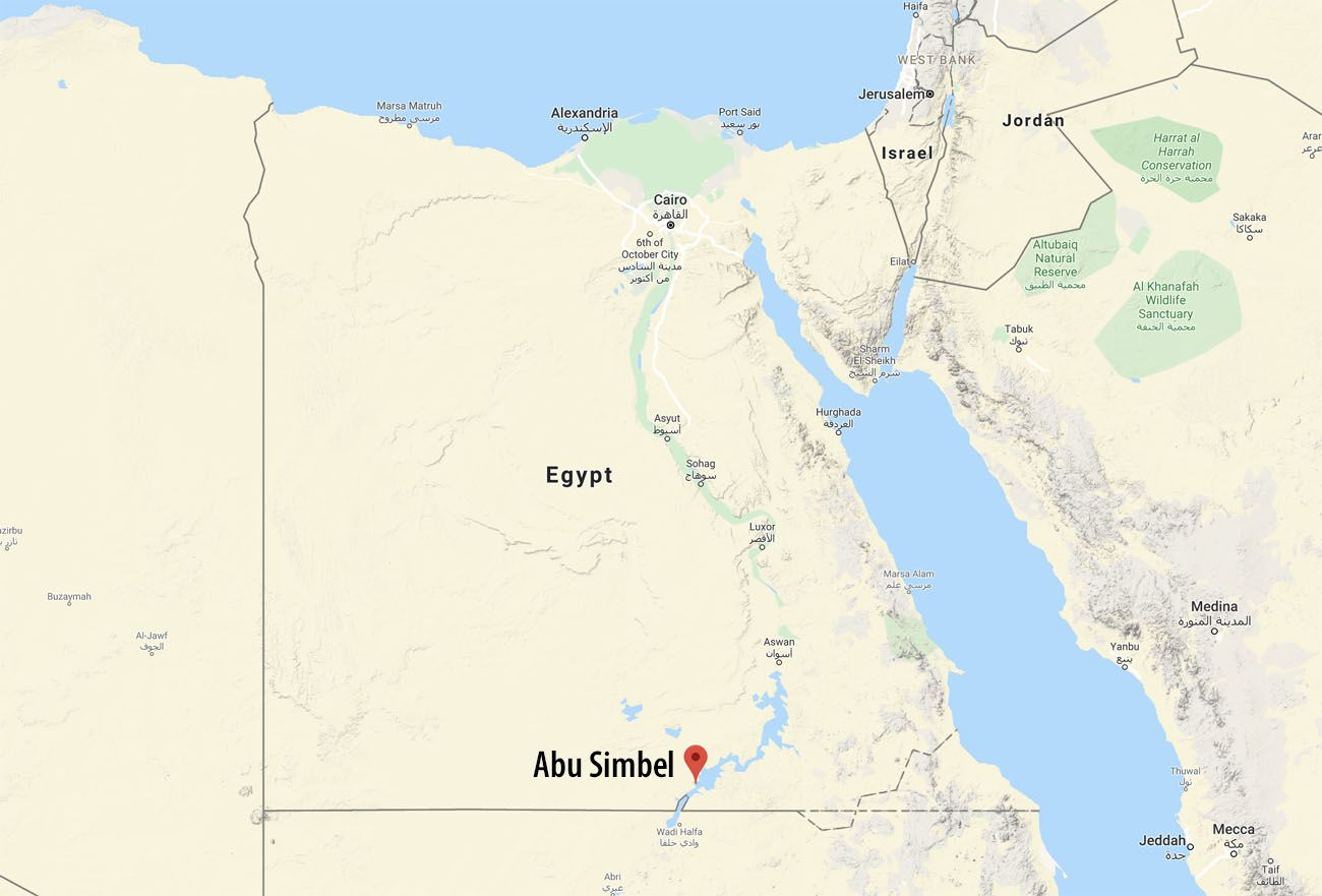 Abu Simbel Location Map | Earth Trekkers
