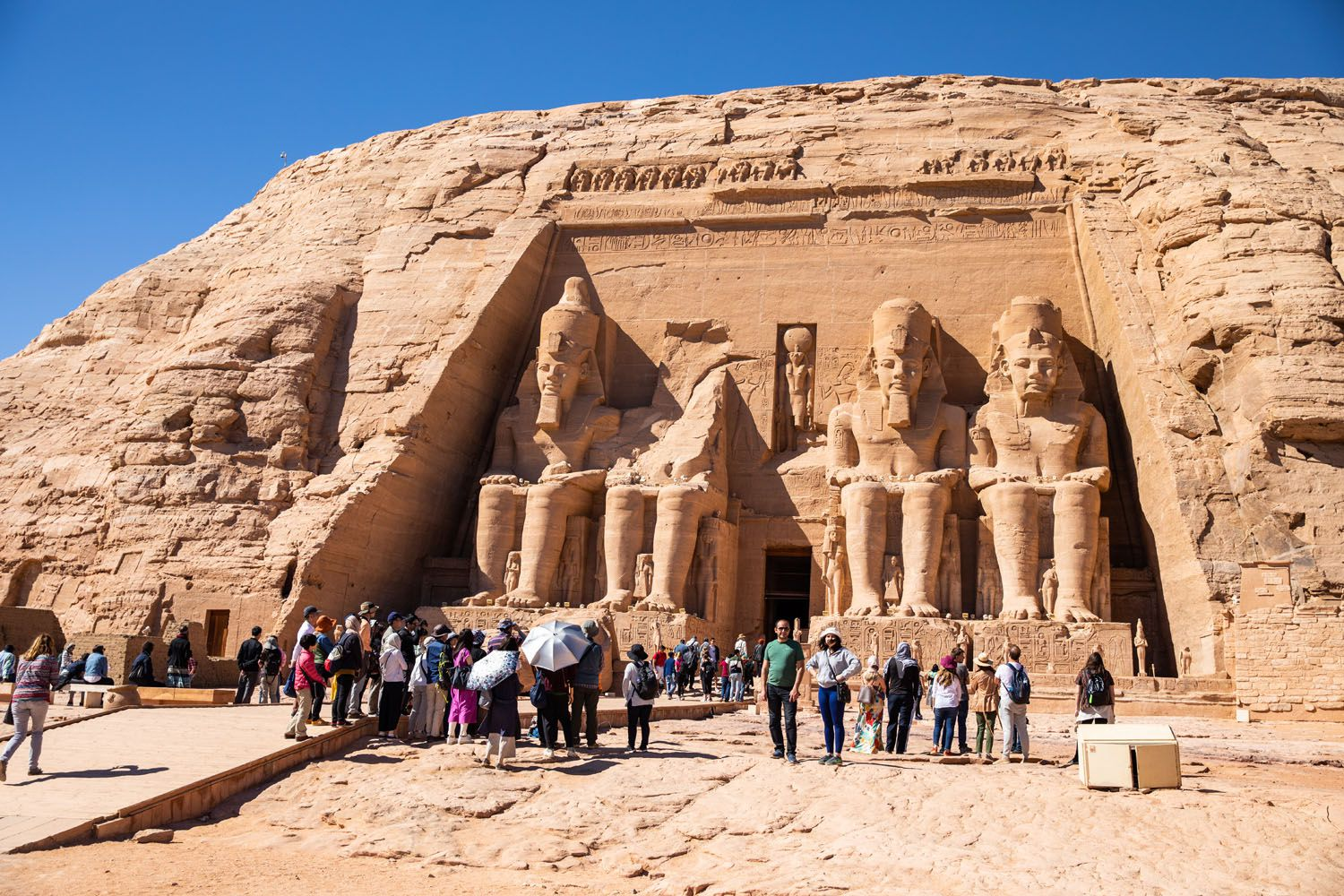 Abu Simbel in December