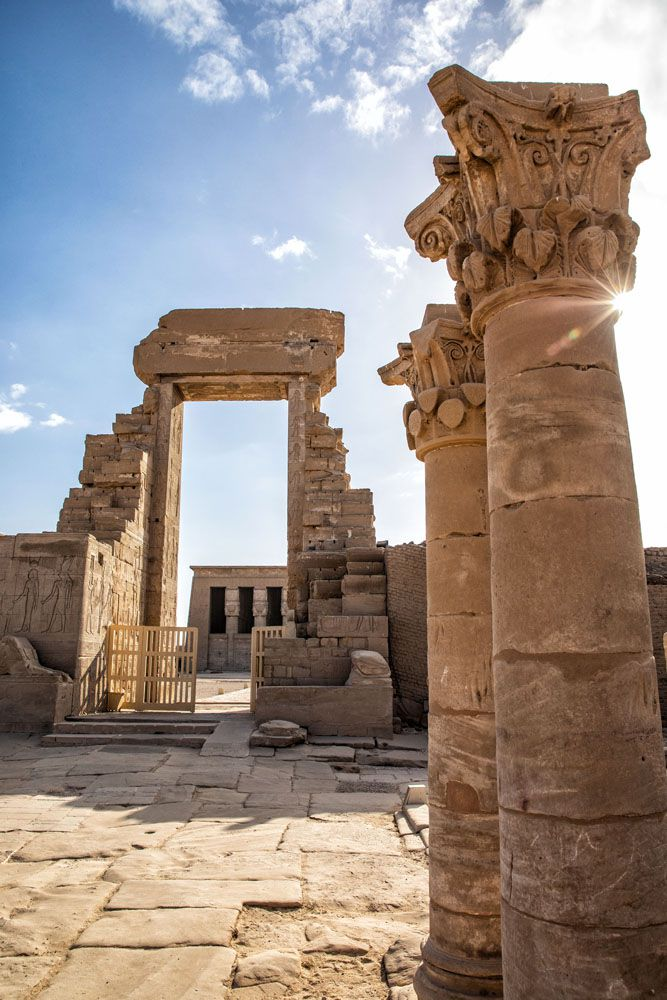 Dendera Temple Complex Entrance