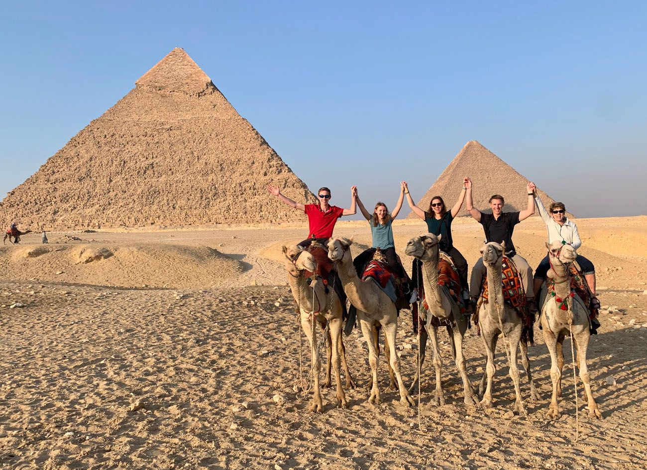 Family Camel Ride at the Giza Pyramids