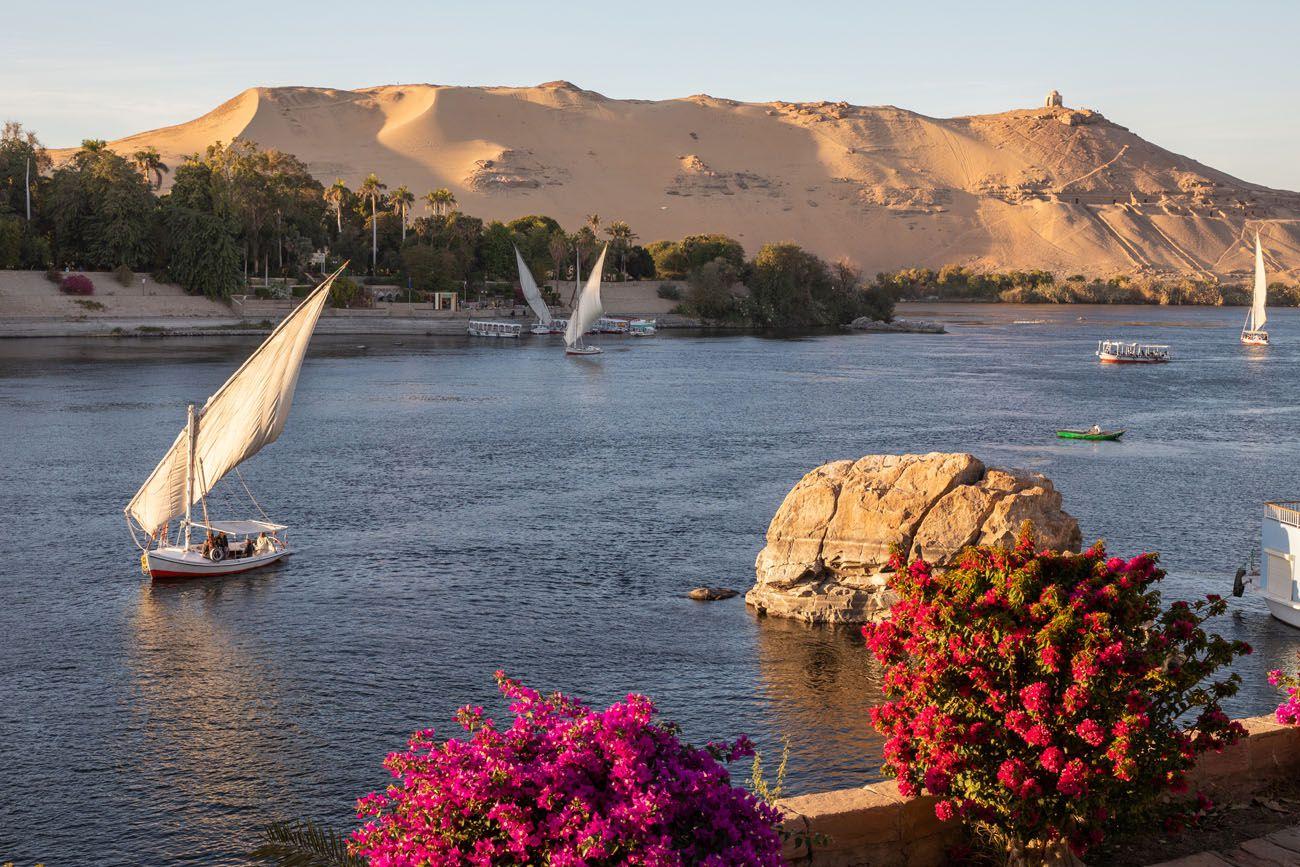 Feluccas in Aswan