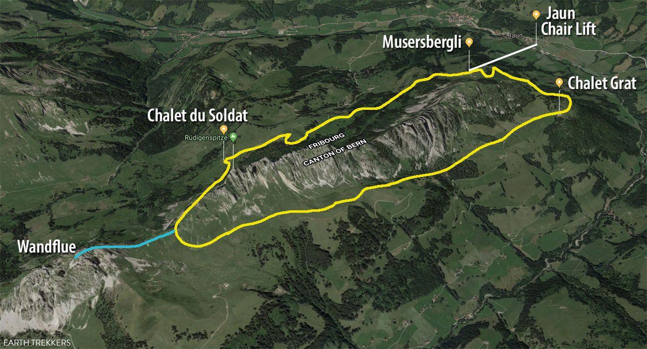Gastlosen Trail Map