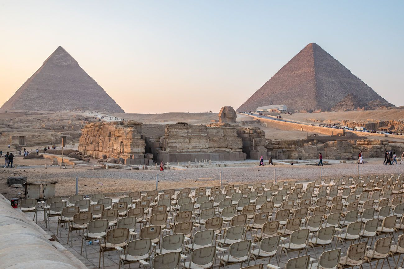 Giza Pyramids Sound and Light Show Chairs