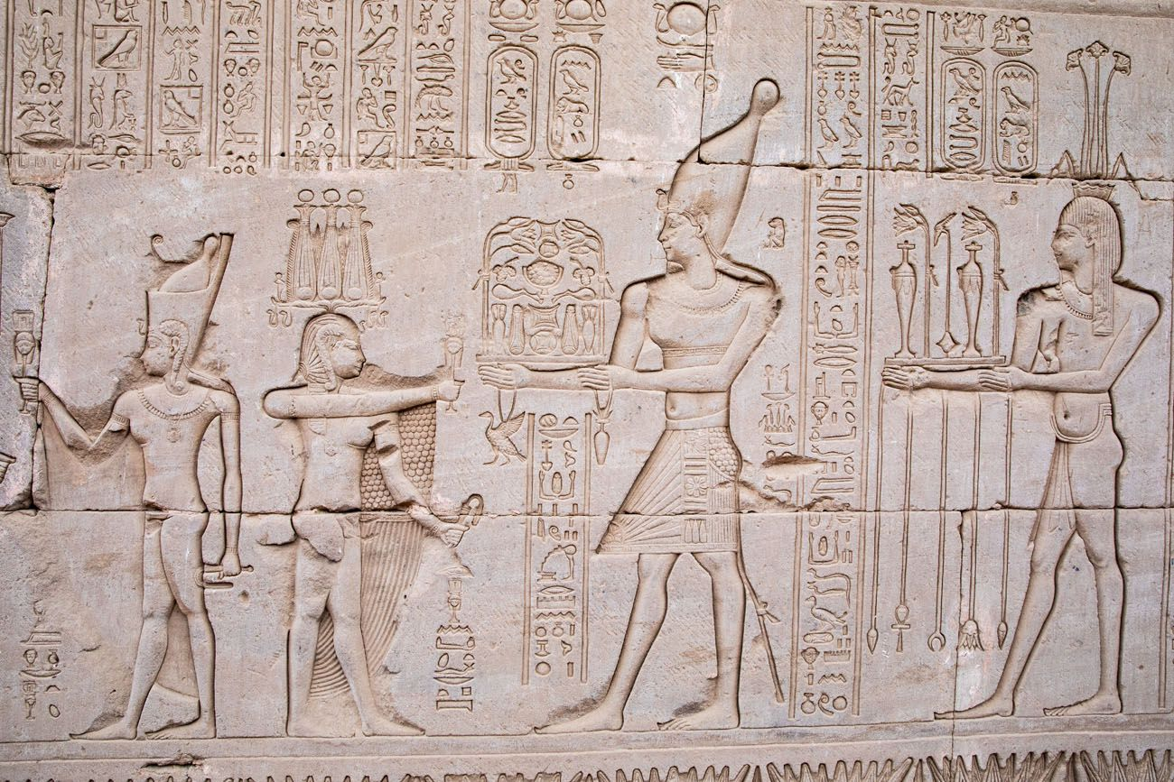 Hathor Temple Relief