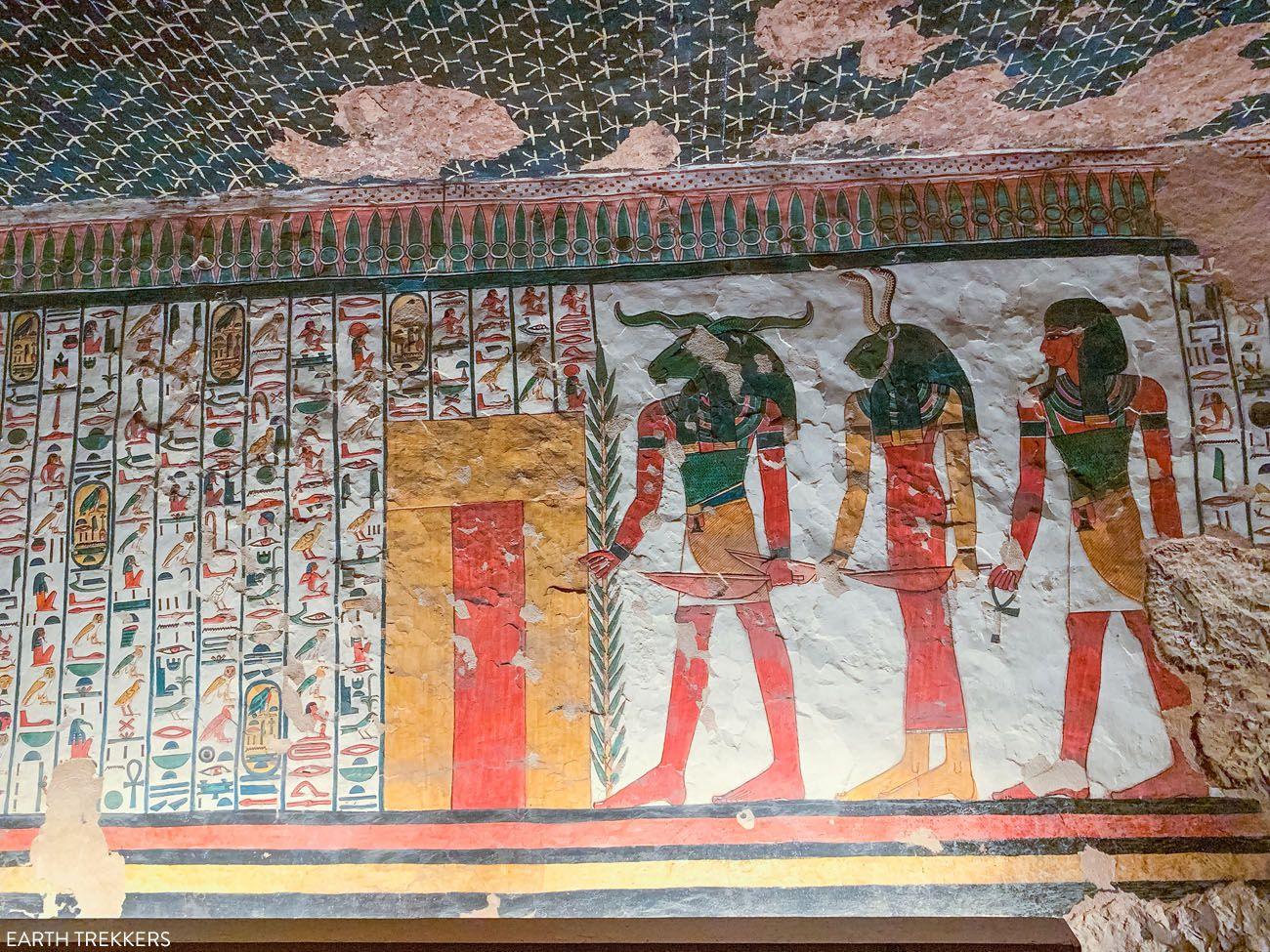 Khnoum in Nefertari Tomb