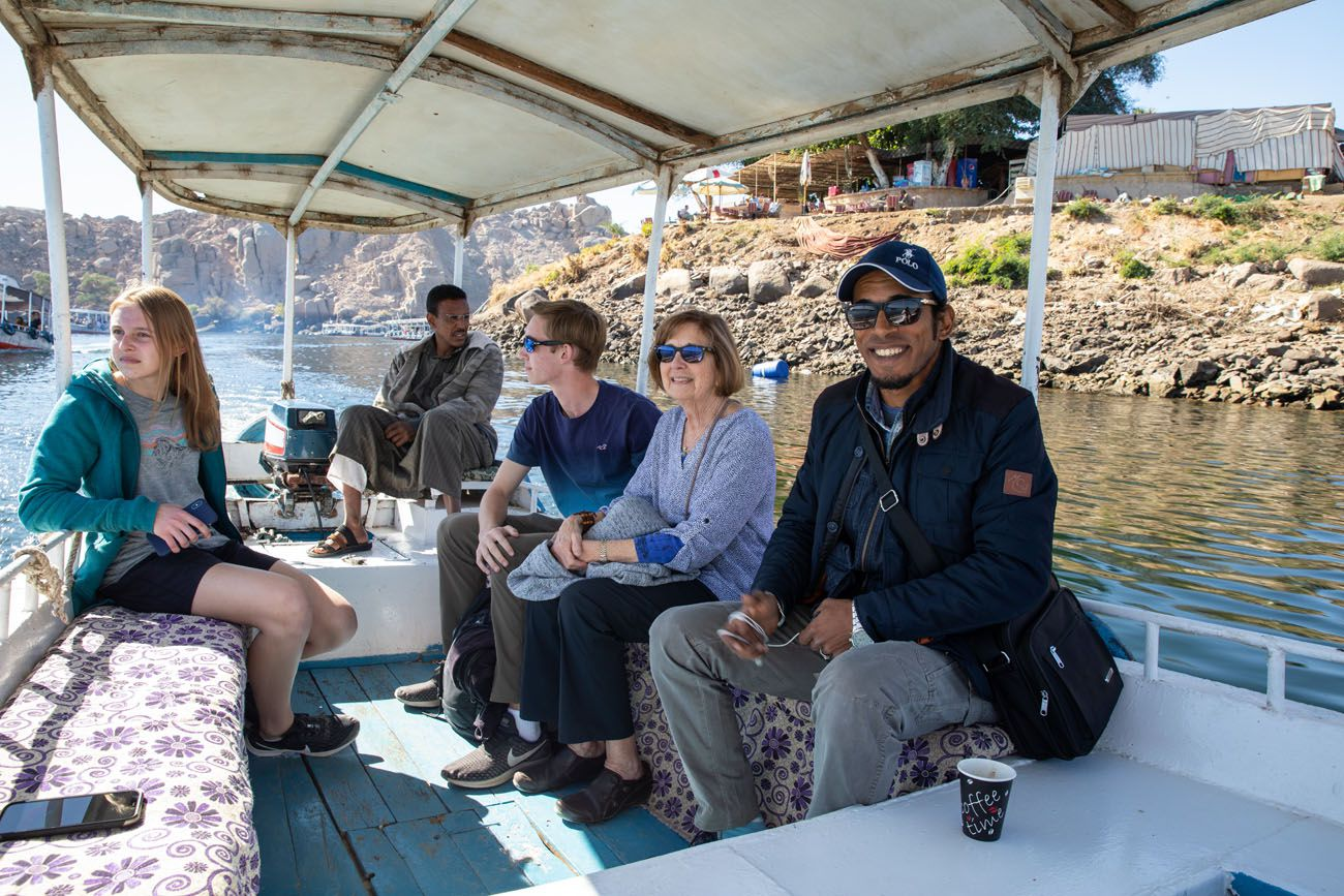 On a Taxi Boat Aswan
