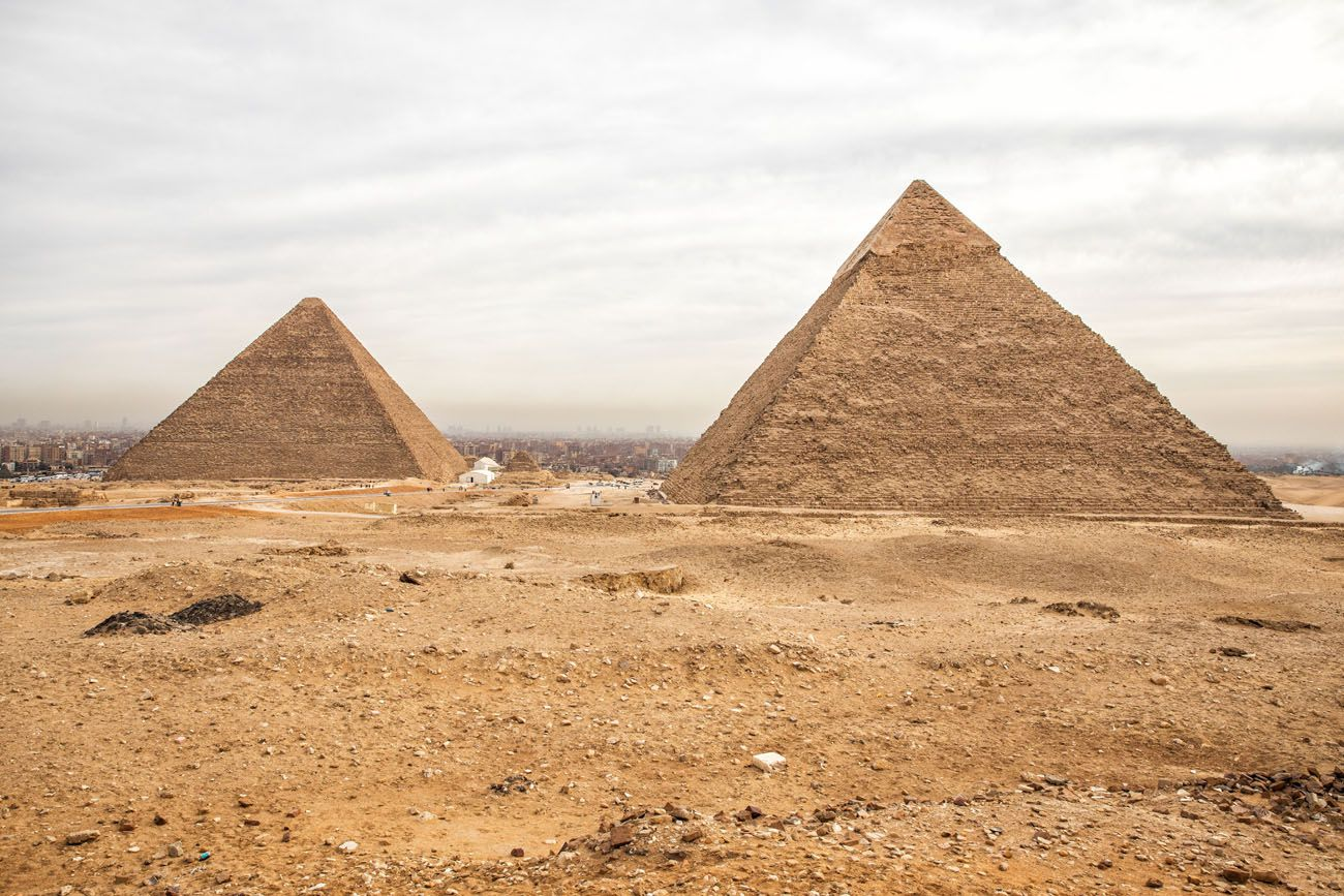 Pyramids from Helicopter Pad best views of the pyramids of Giza