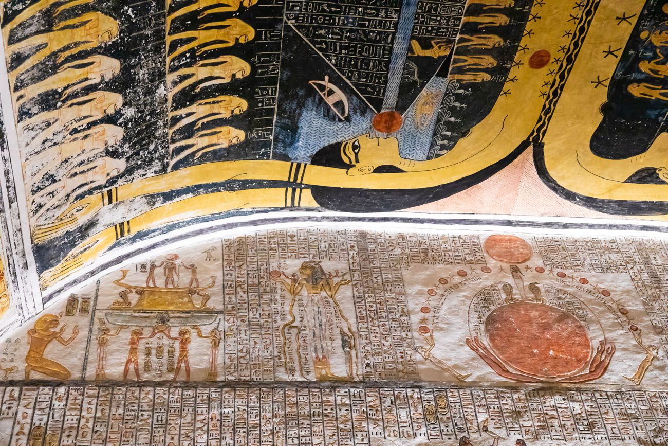 Ramesses V and VI Ceiling