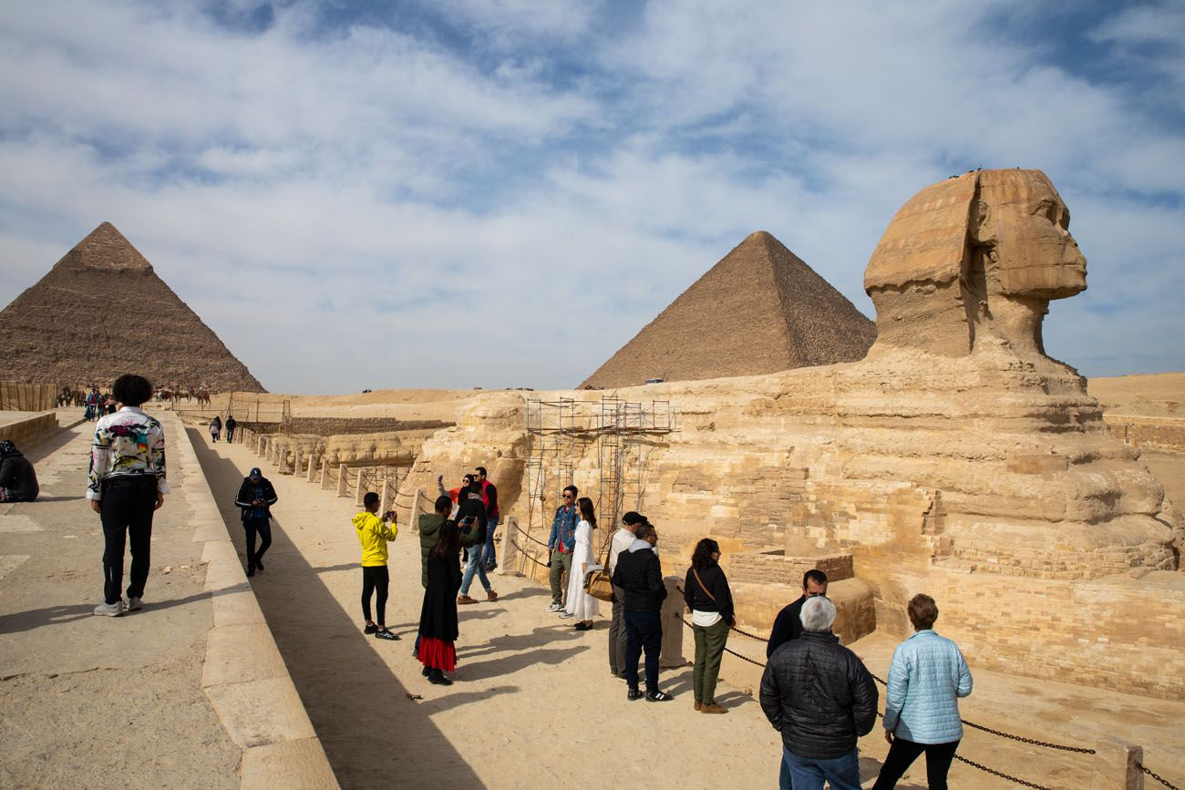 Sphinx and the Pyramids