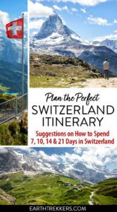 Switzerland Itinerary 7 10 14 21 Days