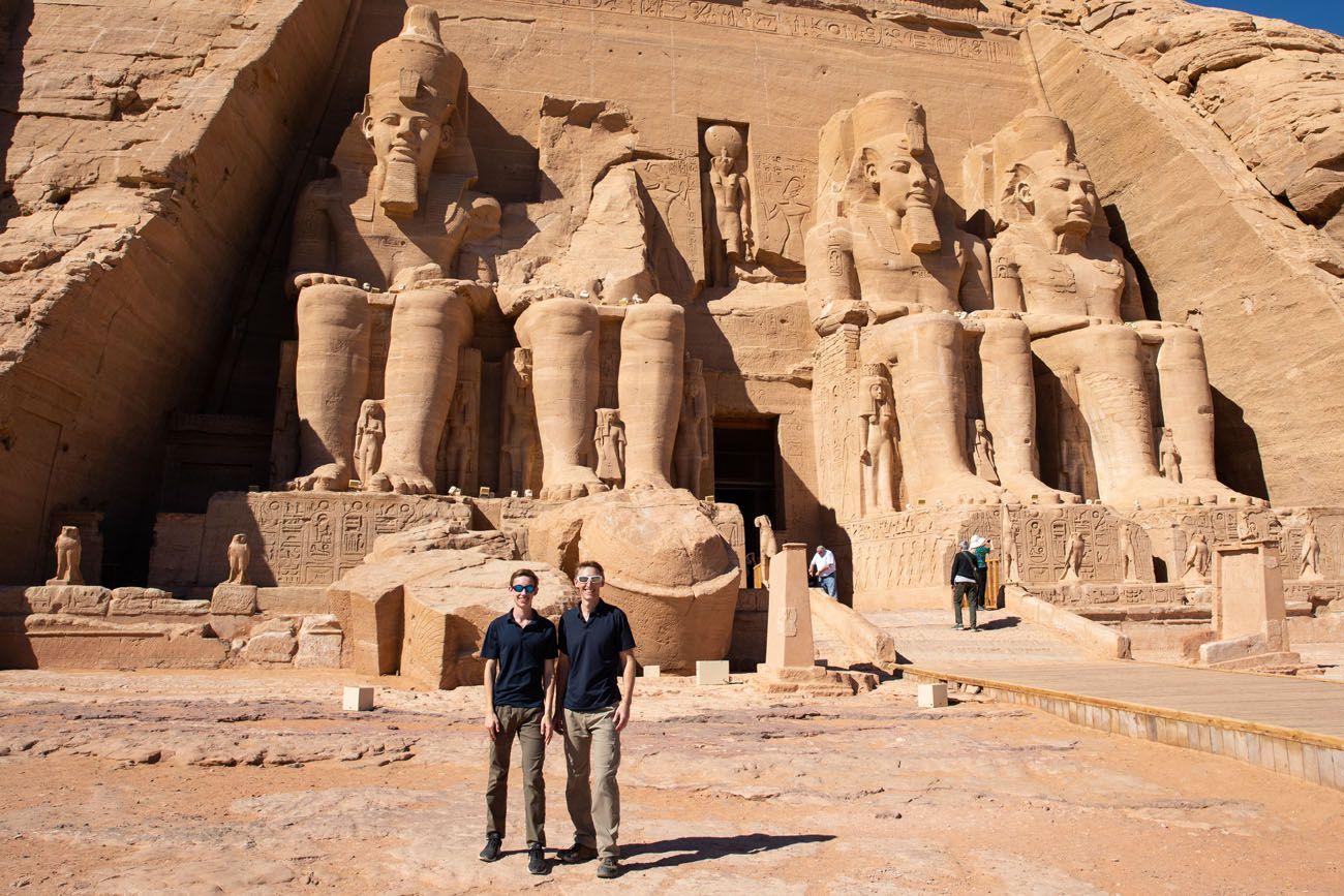 Tim and Tyler Abu Simbel Egypt Travel Tips