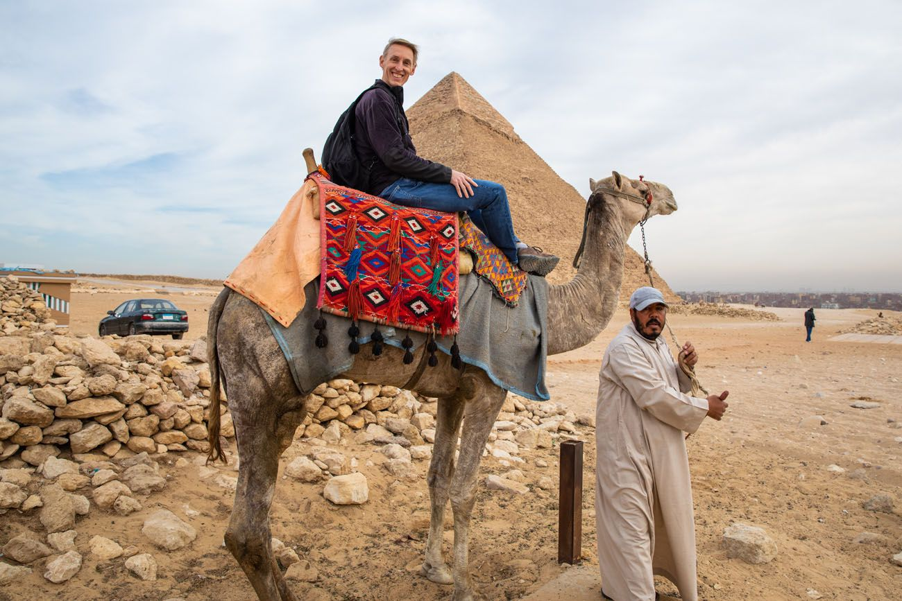 Tim on a Camel