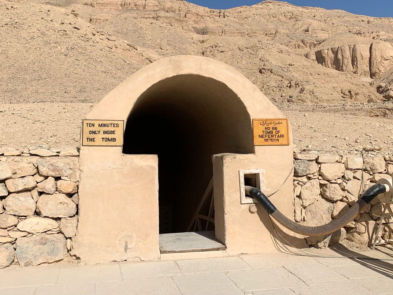 Tomb of Nefertari Entrance