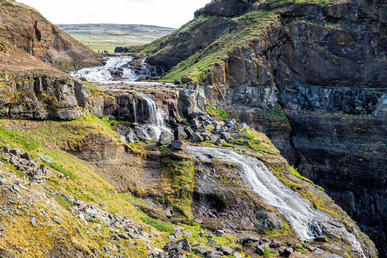 Top of Glymur Waterfall