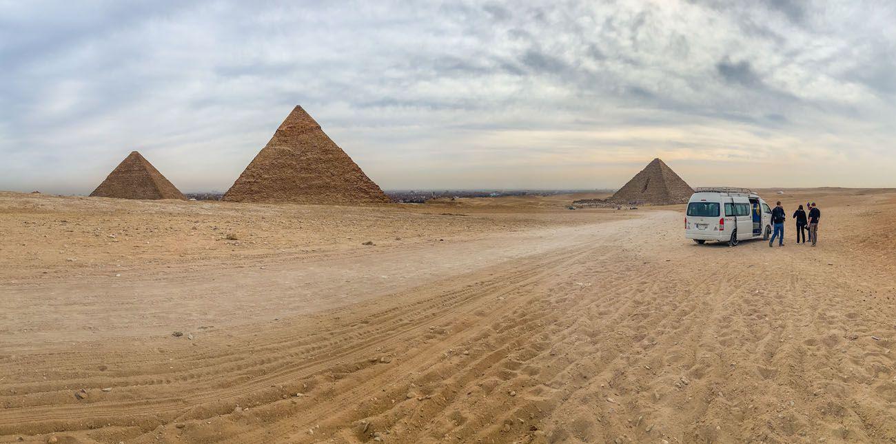Van and Pyramids