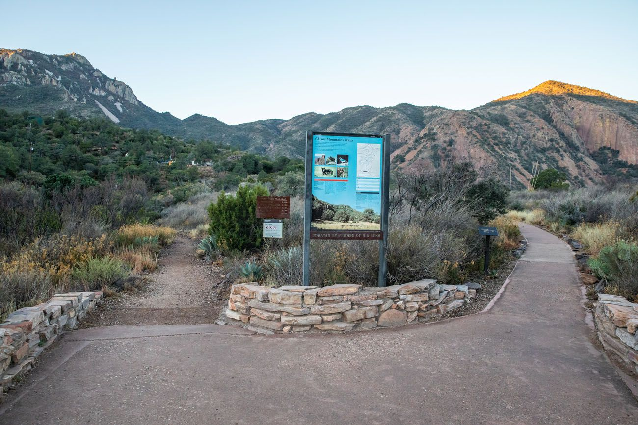Chisos Basin Trailhead South Rim Trail