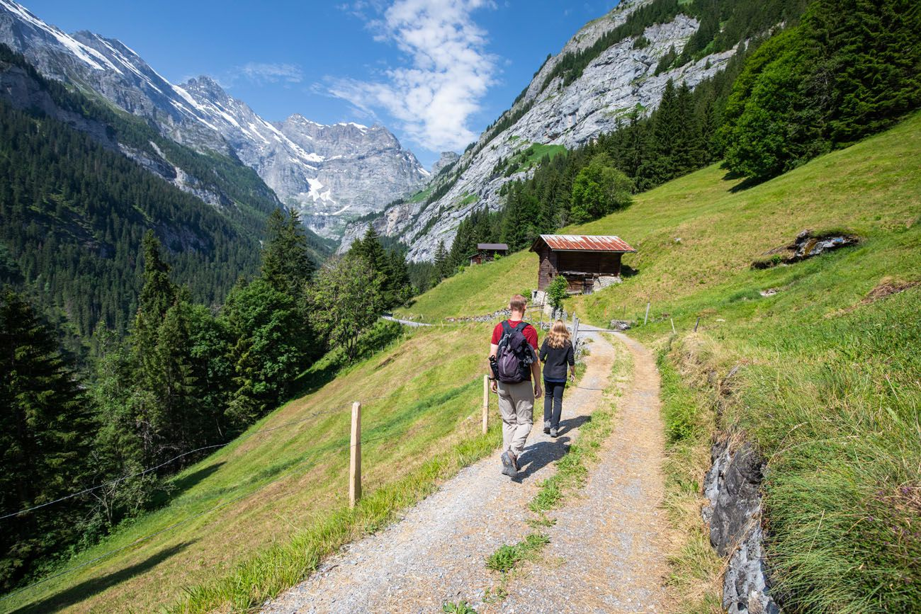 Hike from Gimmelwald