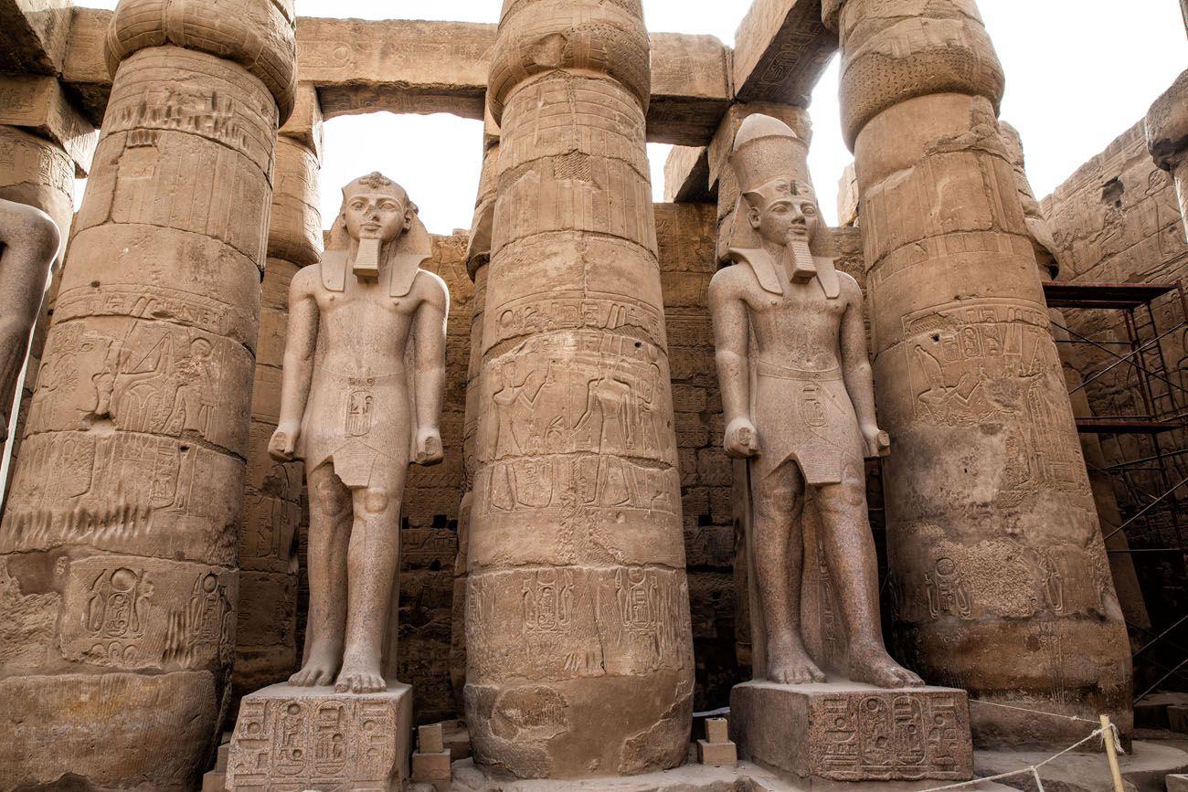 Luxor Temple Statues