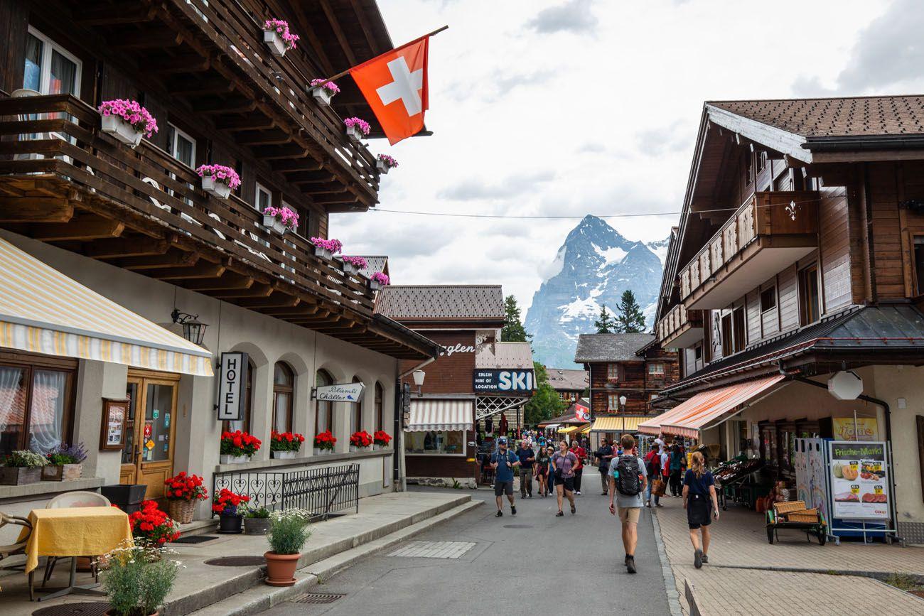 Murren Street Bernese Oberland